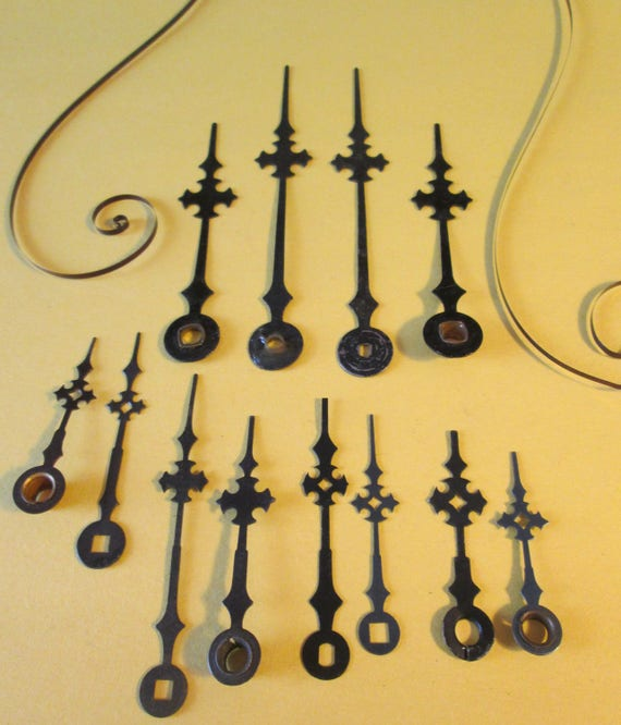 6 Pairs of Vintage Maltese/Gothic Design Clock Hands for your Clock Projects, Jewelry Making, Steampunk Art, Crafts & Etc....