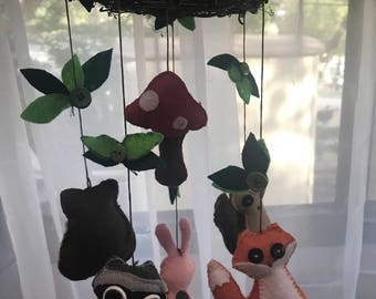 Woodland Animals Baby Mobile