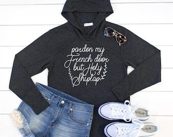 Pardon My French Door Hoodie - Womens Hoodie. Womens lightweight sweatshirt. Graphic Tee - Tickled Teal & The doors hoodie | Etsy Pezcame.Com