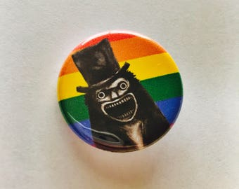 gay babadook pin | lgbt+ icon the babadook