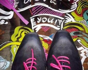 ON SALE black shoes - mens Shoes - mens Oxford Shoes - mens oxfords - black Leather Shoes - black dress shoes - size 9 shoes