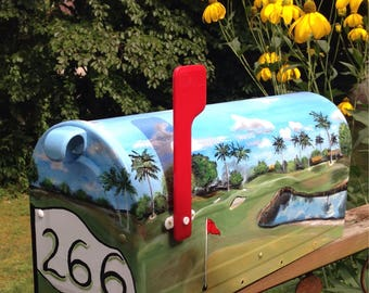 Tropical Golfers Mailbox