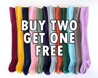 SALE: Buy 2 Get 1 FREE Cable Knit Tights Baby Tights Girls Hand-Dyed Tights Baby Stockings Kids Clothing Infant, Toddler and Girl Sizing