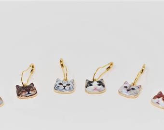 New Cat-tastic Locking Stitch Markers - Set of 6