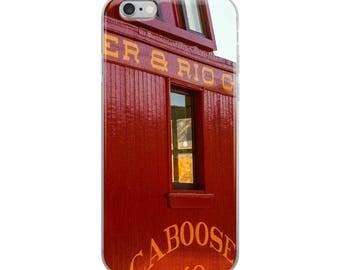 iPhone 5/5s/Se, 6/6s, 6/6s Plus Case - Red Silo Original Art - Denver & Rio Grande Caboose