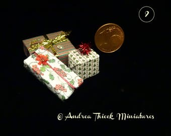 Christmas Presents 2 -  1/12 scale  -  choose your set - OOAK