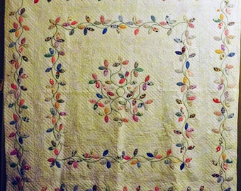 Autumn Leaves Applique Quilt c. 1930