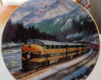 Collectors Plate Train Railroad Porcelain Hamilton