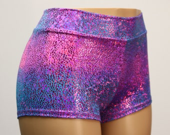 Tie dye high waist shorts | Etsy