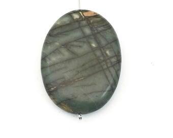 1 Picasso jasper stone bead / 30mm x 40mm  #PP014-04