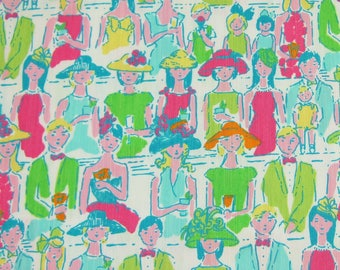 Lilly Pulitzer Dobby Cotton Fabric Giddy Up