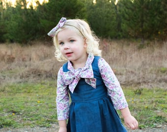 Lily Neck Tie Bow Vintage Girl Blouse