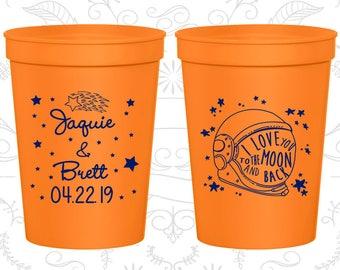 Orange Stadium Cups, Orange Cups, Orange Party Cups, Orange Wedding Cups (263)