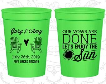 Neon Green Stadium Cups, Neon Green Cups, Neon Green Party Cups, Neon Green Wedding Cups (508)