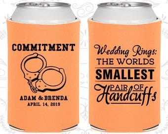 Peach Wedding, Can Coolers, Peach Wedding Favors, Peach Wedding Gift, Peach Party Decorations (C505)