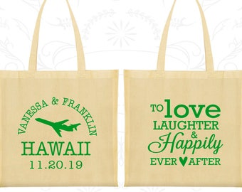 Love Laughter Bags, Imprinted Tote Bags, Destination Bags, State Wedding Bags, Welcome Wedding Bags (04)