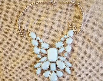Vintage Mint Acrylic Necklace