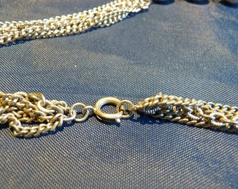 Vintage 1950's High End Runway Filigree Chain Necklace 26 Inches