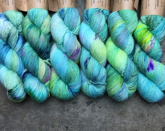 Singles- Fingering weight: Waterlily
