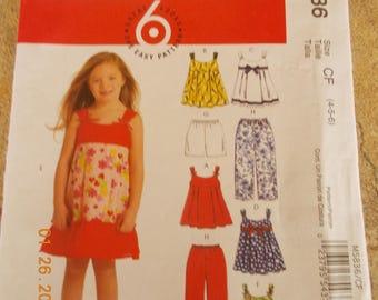 New McCall's Pattern M5836, Girls' Size CF 4-5-6