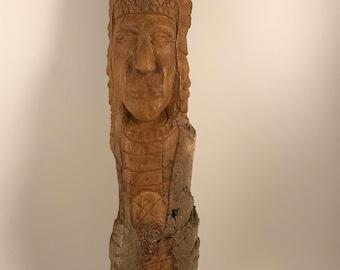 Cottonwood Bark Tree Spirit - Azteca
