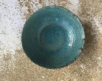 Aqua Raku Bowls