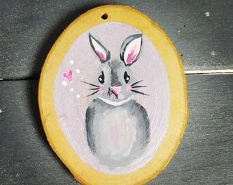 Grey bunny woodslice