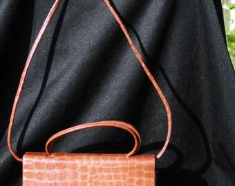 Vtg Barganza & Couture Purse Handbag Shoulder Strap Satchel Hard Case EUC