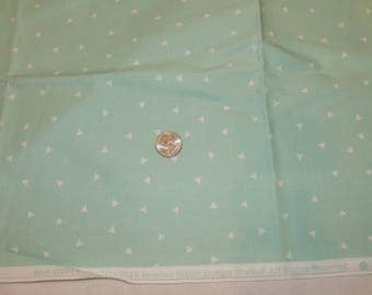 """Brother Sister Design Studio Fabric Crafting Sewing Quilting Quilt Aqua Triangles Geometric 36 1/2"""" x 45"""""""