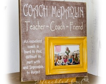 Coach Gift, Personalized Gift for Coach, Coach Picture Frame, Baseball Coach, Soccer Coach, Basketball Coach Thank you Gift, Sports Frame