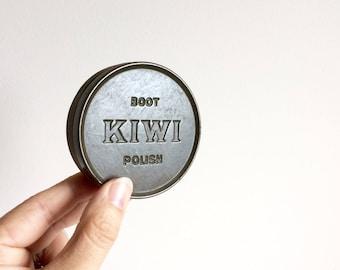 Vintage army polish tin mancave rustic worn tin kiwi polish