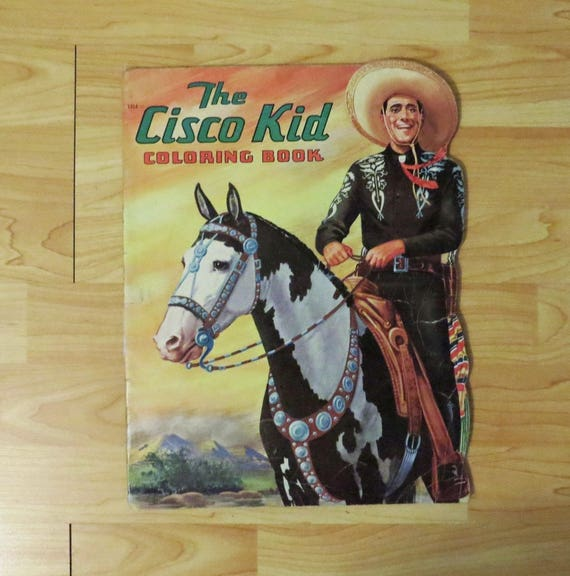 Rare The Cisco Kid Coloring Book Saalfield Publishing