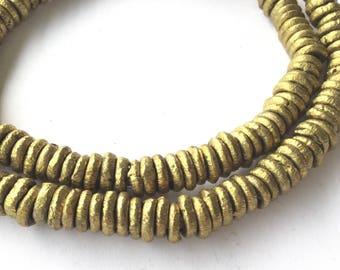 167 Yoruba African authentic handmade Donut Brass trade beads