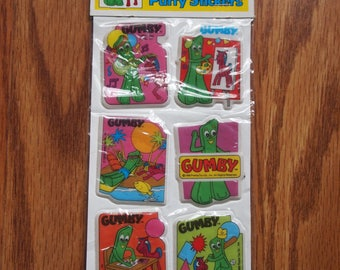 Vintage Gumby Puffy Stickers