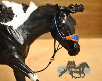 Glitter Bronc Noseband Rope Halter for Model Horses