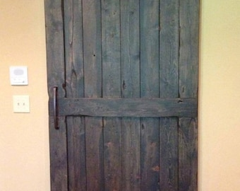 Vintage Custom Sliding Barn Door With Windows Price Is For