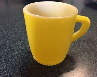 Fire King Yellow Mug