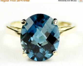 On Sale, 30%Off, London Blue Topaz, 14Ky Gold Ring, R055