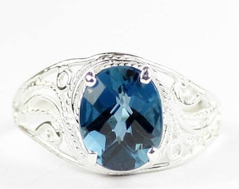 On Sale, 30% Off, London Blue Topaz, 925 Sterling Silver Ladies Ring, SR083