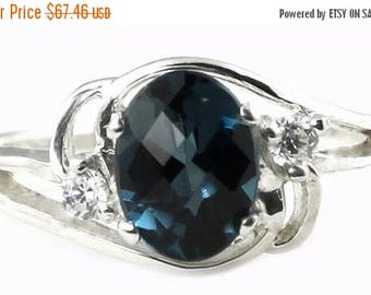 On Sale, 30% Off, London Blue Topaz, 925 Sterling Silver Ring, SR176