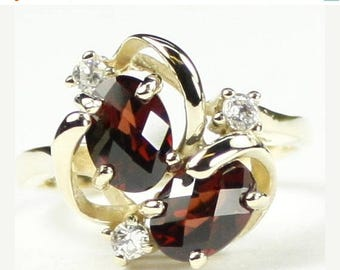 On Sale, 30% Off, Mozambique Garnet, 18Ky Gold Ring, R016