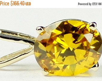 On Sale, 30% Off, Golden Yellow CZ, 14KY Gold Pendant P002