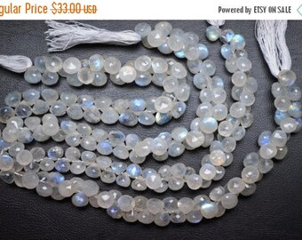 40%OFF 4 Inch Strand 7-8mm Natural Blue Flash Rainbow Moonstone Faceted Onion Shape Briolette Beads-25 Beads