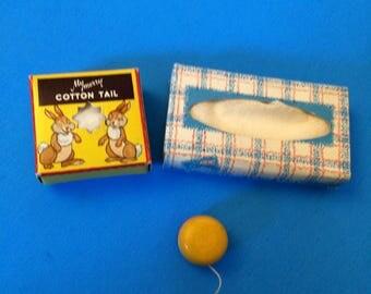 My Merry Closet Toys Scotties Tissues YoYo Cotton Tail Box of Cotton
