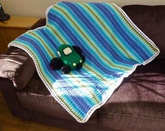Crochet 'Ocean Dreams' V Stitch Blanket, 37 x 37 inch