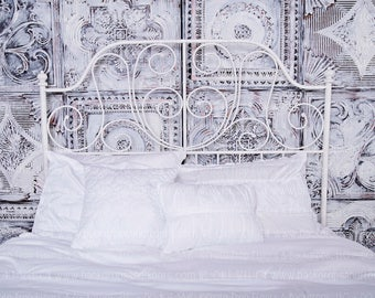 headboard photography backdrop chandelier bed boudoir elegant shabby chic studio