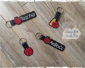 Teacher Gift, Teacher Key Fob, Personalized Teacher gift, Teacher Key Ring, Gift for Teacher, Teacher Appreciation, Teacher thank you gift