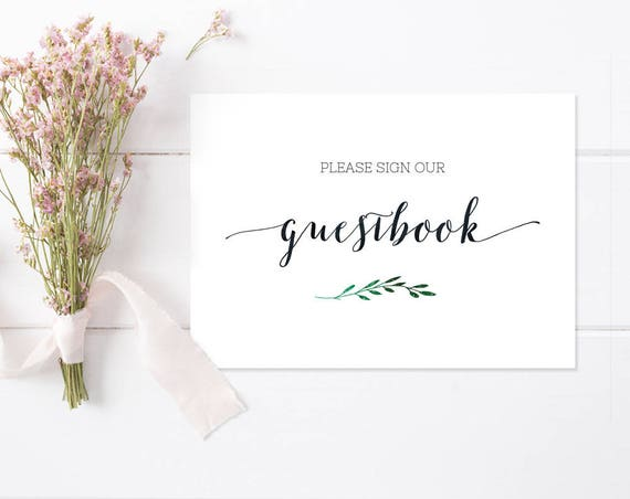 Printable Guestbook Sign INSTANT DOWNLOAD