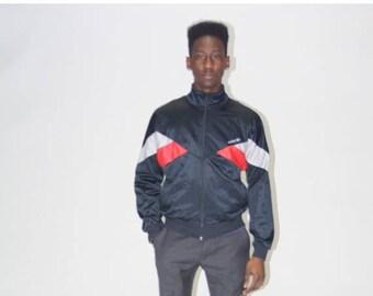 FINAL SALE - 1990s Adidas Trefoil Windbreaker - Vintage Adidas warmup Jacket - Retro Adidas Jackets  - MO0460