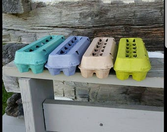 Egg Cartons Multi Colored (Set of 4)